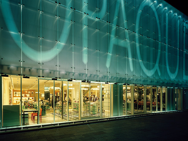 アパレルの店舗デザイン内装プロデュース事例|ワールドグループのOPAQUE(オペーク)銀座店の店舗画像