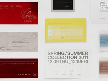 総合ファッションサービスグループ、ワールドグループのプロモーションツール、グラフィックデザイン画像