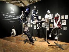 総合ファッションサービスグループ、ワールドグループのゴルフブランド「adabat(アダバット)」の展示会、VMD、ディスプレイ画像
