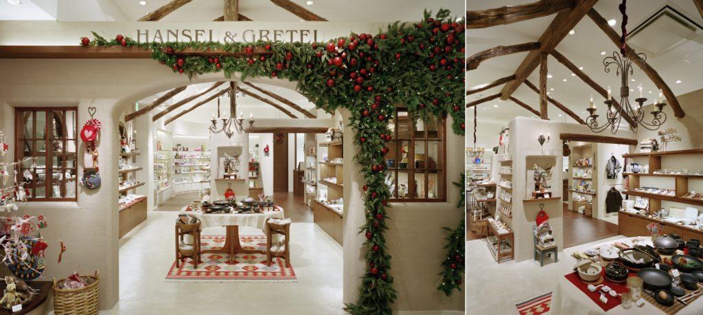 総合ファッションサービスグループ、ワールドグループのライフスタイルストア「HANSEL&GRETEL(ヘンゼル&グレーテル)」が展開する店舗 、ヘンゼル&グレーテル阪急西宮ガーデンズ店の店舗デザイン、外観、VMD