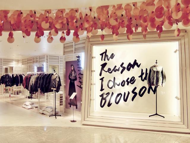 伊勢丹新宿店本館シーズンオケージョンコーナーで展開するポップアップ・ストア「The Reason I chouse the BLOUSON」のVMD、ディスプレイ画像