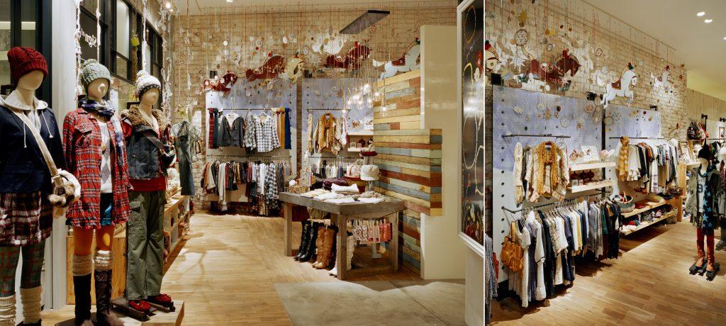 総合ファッションサービスグループ、ワールドグループのファッションブランド、「Sign of the Time(サイン オブ ザ タイム)」の店舗デザイン、外観、VMD