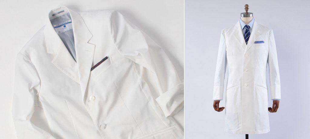 総合ファッションサービスグループ、株式会社ワールドの100%子会社、株式会社ワールドプロダクションパートナーズのブランド「FIELDWORLD(フィールドワールド」が開発したドクターコート、ドクタージャケット画像