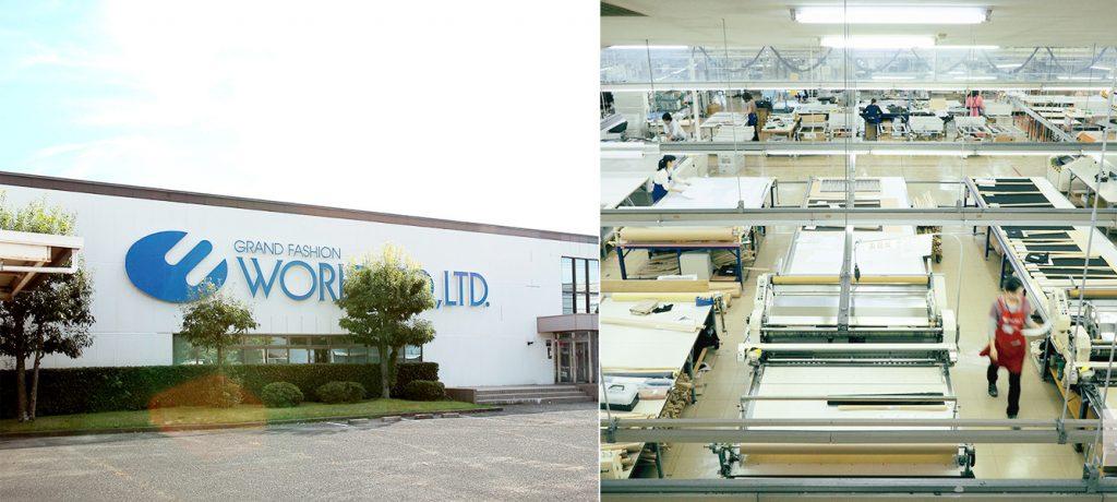 総合ファッションサービスグループ、株式会社ワールドの100%子会社、株式会社ワールドプロダクションパートナーズのブランド「FIELDWORLD(フィールドワールド」製造工場画像