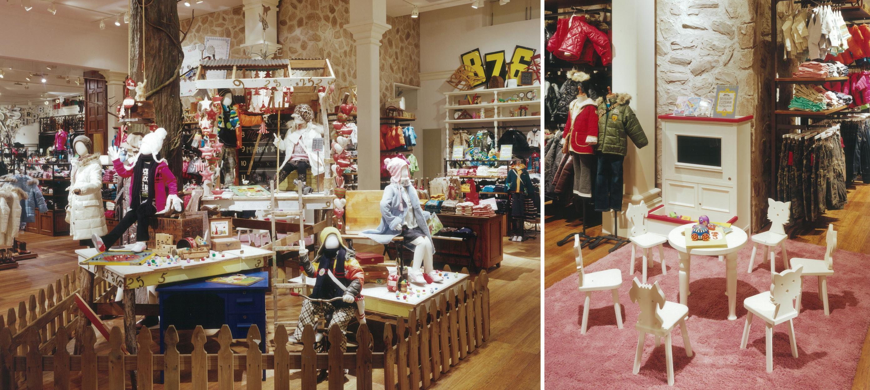 総合ファッションアパレル企業、株式会社ワールドのファッションブランド、DOOROOMOO(ドゥールームー)伊勢崎店の店舗デザイン、外観