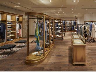 総合ファッションアパレル企業、株式会社ワールドのファッションブランド、ドレステリア銀座店の店舗デザイン、内装、VMD