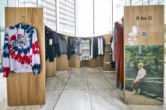 総合ファッショングループ、株式会社ワールドが開催した POP-UP型百貨店「246st MARKET」の什器画像
