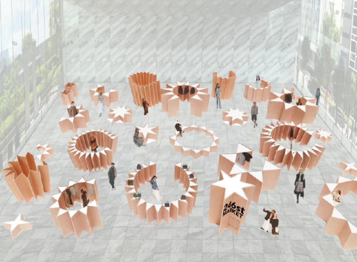 総合ファッショングループ、株式会社ワールドが開催した POP-UP型百貨店「246st MARKET」のイメージ画像