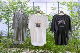 「スリュー」がワールドの余剰在庫となったTシャツをアップサイクルした商品