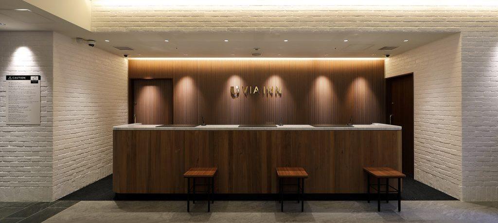 ホテル「ヴィアイン広島新幹線口」の受付カウンター画像