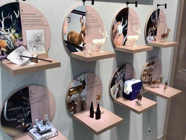 スワロフスキージャパン銀座店クリスタルスタジオのVMD画像