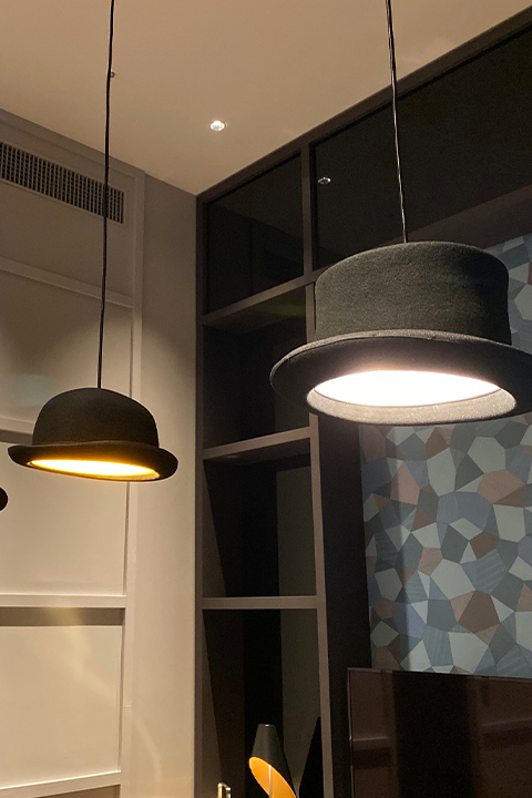 株式会社ワールドスペースソリューションズが製作した大阪エクセルホテル東急のペンダント照明器具