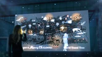 """ワールド北青山ビル クリスマス限定のプロジェクションマッピング・映像イベント「WORLD TRAVEL TREE """"AOYAMA"""" (ワールドトラベルツリー""""青山"""")」画像"""