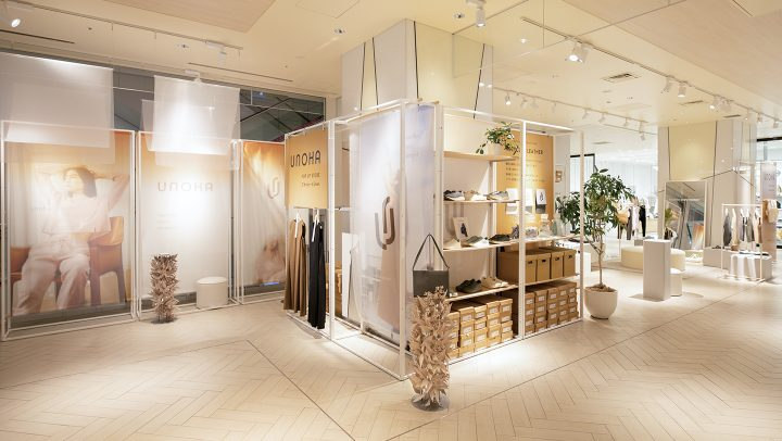株式会社アシックスが展開するUNOHA(ウノハ)渋谷スクランブルスクエアポップアップストア画像